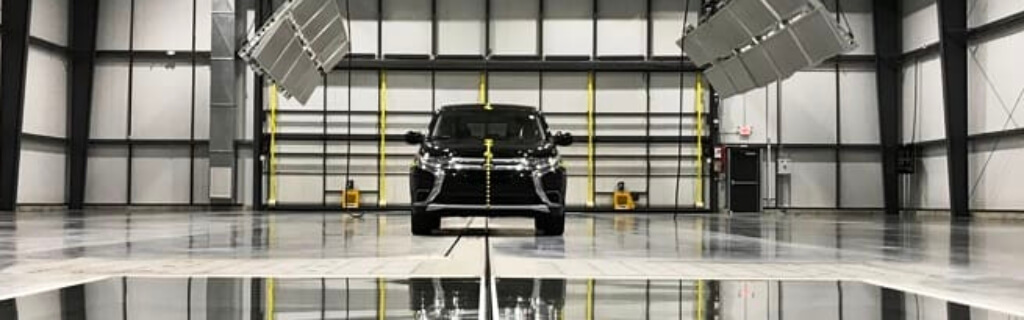 Crash test facility